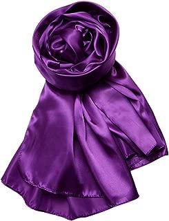 Wiwsi Luxurious Women Wedding Party Silky Satin Scarf Wrap Bridal Evening Shawl
