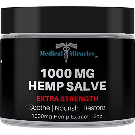 Medical Miracles Hemp 1000 Mg Extra Strength Healing Salve | 100% Natural Made in USA
