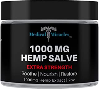 Medical Miracles Hemp 1000 Mg Extra Strength Healing Salve | 100% Natural Cream Relieves Inflammation, Muscle, Joint, Knee...
