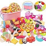 Tebrcon 65点 おままごと キッチン セット 子供 知育玩具 DIY 寿司 果物 海鮮 ハンバーグ コンロ ままごと用調理器具 付け 親子遊び キッチン おもちゃ プレゼント 男の子 女の子 ままごと ごっこ遊び