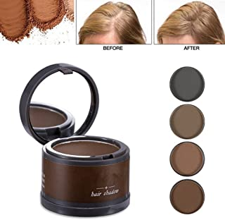 Magical Fluffy Thin Hair Powder Hair Line Shadow Makeup Hair Concealer Root Cover Up Instant Gray Coverage 4g (01 brown)
