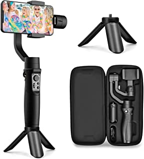Hohem 3-Axis Gimbal Stabilizer for Smartphone iPhone w/Inception Sport Mode Object Face Tracking Motion Time-Lapse Quick Balance Handheld Gimbal for Vlog Youtuber Live Video - (iSteady Mobile Plus)