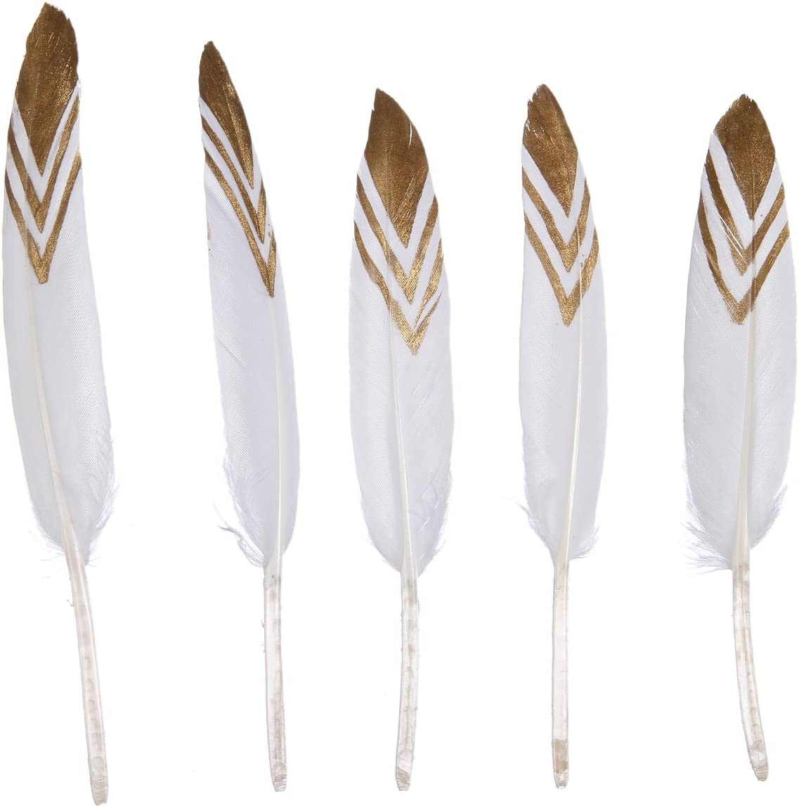WAKEACE 20pcs 5 ☆ popular Pieces Goose Feather Simulation 4-6 Gold Inches Max 68% OFF