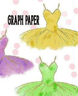 Graph Paper: Ballet Dancer Quadrille Paper Ballerina Coordinate Paper Quad Ruled Tutu Bodice Costume