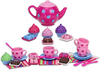 Sophia's Doll Sized Tea Set, Cupcakes, Petit Fours, Tea Pot and More | 18 Inch Doll Tea Party and Treats Set Perfect for American Dolls & More!