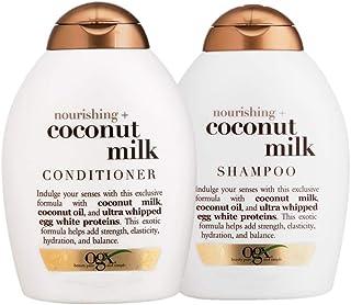 Kit OGX Coconut Milk: 1 Condicionador 250ml + 1 Shampoo 250ml