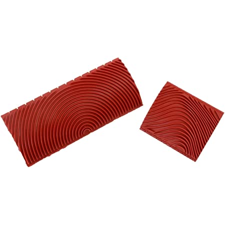 TANOKY Rubber Empaistic Wood Grain Tool Household Wall Art Paint Red Wood Grain Pattern Rubber DIY Graining Painting Tool for Wall Decoration 4 Pcs Wood Graining Painting Tool