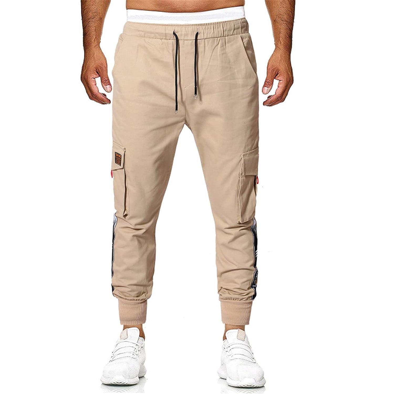 Men's Cargo Pants Slim Fit Casual Jogger Pant Chino Trousers Sweatpants Trackpants (3X-Large,Khaki)