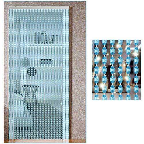 ZXL Perlen Vorhänge für Tür Dekor Raumteiler Hängen Saiten Wohnzimmer Schlafzimmer Schranktür Wand Panel (Farbe: C, größe: 124 stränge-100x200 cm)