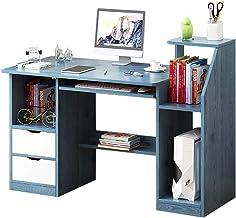 LJBH Computer Desk, Desk, Home Desk, Simple Writing Desk, Blue Pine Color Computer desk, desk, durable and practical (Colo...