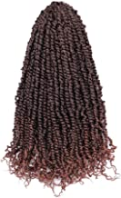 """Passion Twist Hair 7 Packs 20 Inch Pre-twisted Long Bohemian Pre-looped Crochet Braid Synthetic Fiber Hair Extensions (20"""", T30)"""
