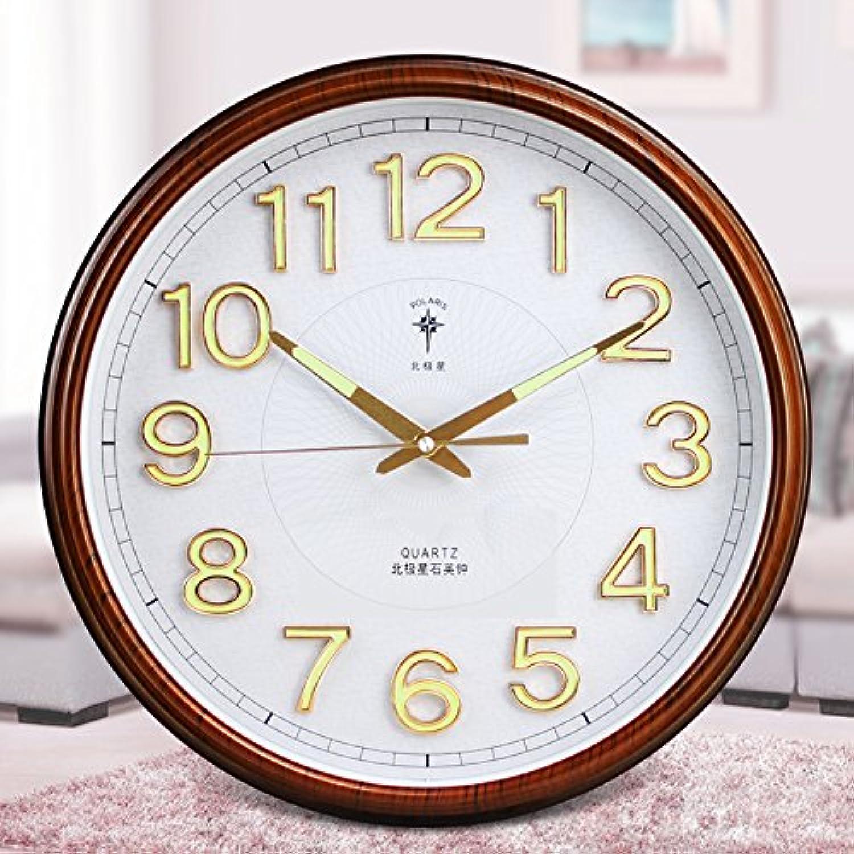 OLILEIO Polaris Mute Zimmer Clock Kalender Wecker Kalender Watch Modern Fashion kreative Watch, 16 Zoll, Noctilucan