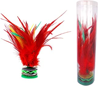 EMUST Feather Kick Shuttlecock Colorful Feathers - Durable Chinese Jianzi Play with Friends 2 PCS