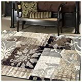 SUPERIOR Pastiche Collection Area Rug - Jute Backing, Geometric Modern Area Rug, Neutral Color, Affordable Rug, 4' x 6'