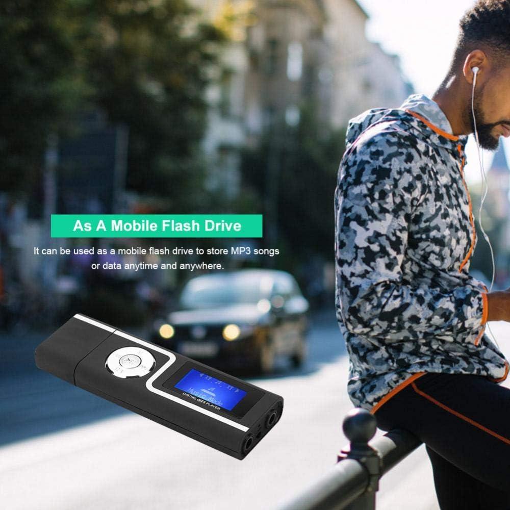 Blanc Lecteur de Cartes de Lecteur de Cartes de Lecteur de Carte de Lecteur de Fente pour Carte TF, avec /écran Lecteur MP3 Droit avec Prise USB ASHATA Porable LCD Lecteur MP3