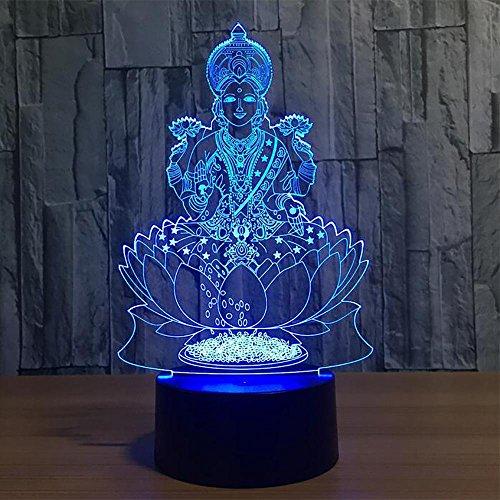 3D Night Light LPY-Lumière de Nuit pour Enfants LED Touch Table Lampe 7 Couleurs Changeant Lumières de Noël pour la Chambre Décorative et Enfants Lampe de Noël Décorations