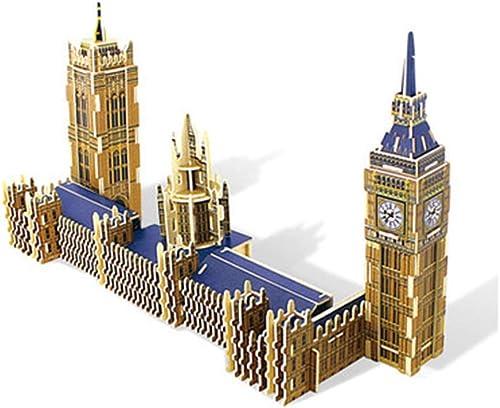primera reputación de los clientes primero LINGNA DIY 3D Big Ben Madera Puzzle Corte Corte Corte por láser Famoso Modelo de construcción Adulto Infantil Desarrollo de Inteligencia Diversión Insertar Juego estéreo  Envío 100% gratuito