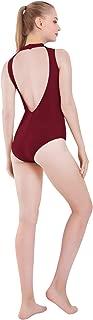 Mvefward Womens Sleeveless Mock-Turtleneck Neck Open Back Dance Ballet Leotard Bodysuit