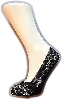Calcetines invisibles de encaje para mujer (1 par)