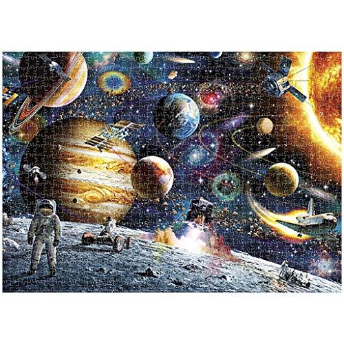 Puzzle 1000 Teile Weltraumplanet Puzzle für Erwachsene Kinder Impossible Puzzle Geschicklichkeitsspiel für die ganze Familie Farbenfrohes Legespiel Papier Große Puzzle