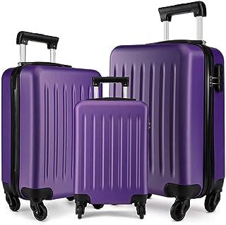 حقائب السفر  بعجلات سبينر ، طقم من 3 قطع ، 20 بوصة 24 انش ، بنفسجي