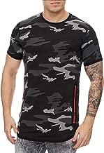 Herren T Shirt Druck Camouflage Slim Fit Shirt Kanpola Kurzarm Sport Oversize Rundhals Unterhemd Sommer Pullover Stylische Basic Sweatshirt Oberteile