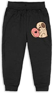 Funny Pug Puppy Dog Girls Long Sweatpants Jogger Trousers