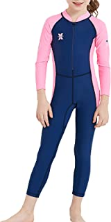 DIVE & SAIL Kids Rash Guard Wetsuit,Youth Girls and Boys Swimsuit One Piece Water Sports Sunsuit Swimwear Sets