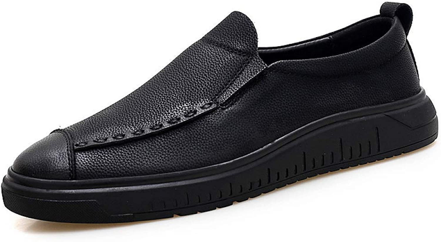 Hhgold Autumn New Invisible Inner shoes, Men's Leather Casual shoes 42,43 (color   Black, Size   UK 6.5)