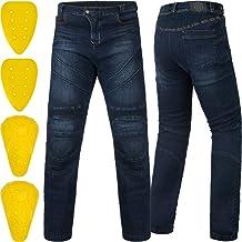 ILM Motorcycle Dirt Bike Motocross Pants for Men CE Armored Riding Gear Jeans Motorbike Adventure Touring Pant (Blue, Wais...