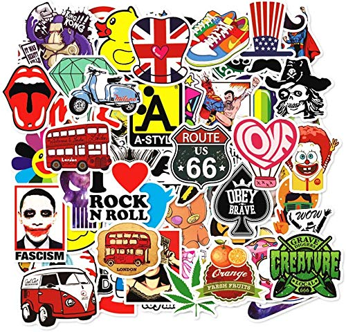 200 Pcs Random Stickers Decals for Water Bottle Hydro Flask Laptop Luggage Car Bike Bicycle Waterproof Vinyl Stickers Pack