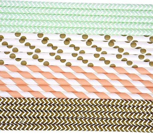 Cannucce,Cannucce di Carta Colorate Cannucce di Carta Colorate, cannucce di Carta per Fiori H & PC-68824 Molti Tipi di cannucce di Carta