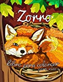 Zorro libro para colorear para niños: Dibujos de zorros para colorear Hermosos diseños para colorear