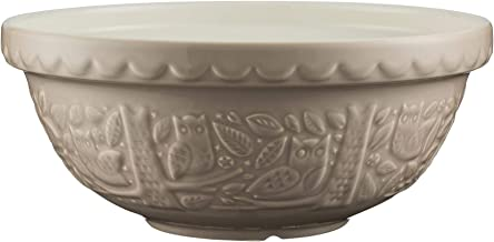 Mason Cash in The Forest Owl Stone Earthenware Mixing Bowl, 26cms, Cream 28453