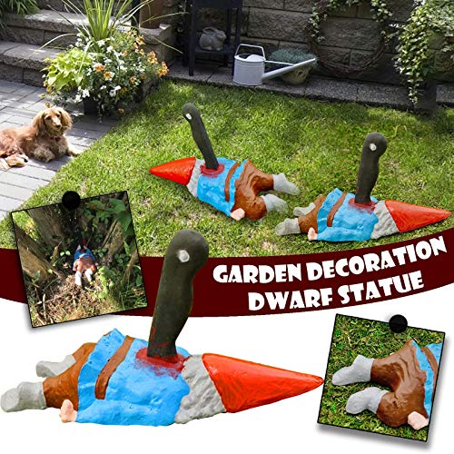 Woolkey Zombie Gnome Garden Statues Simulation Resin Scary Crawling Zombie Decor Outdoor Gardening...