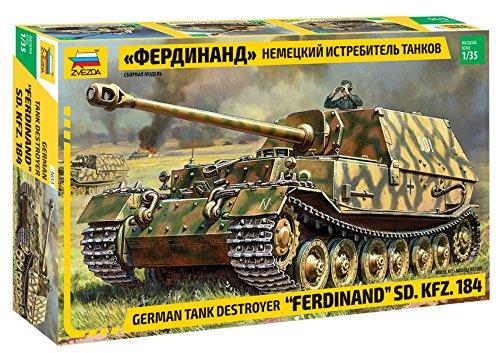 """ZVEZDA 500783653 - 1:35 Sd. Kfz.184 """"Ferdinand Tiger"""", Modellbau, Bausatz, Standmodellbau, Hobby, Basteln, Plastikbausatz"""
