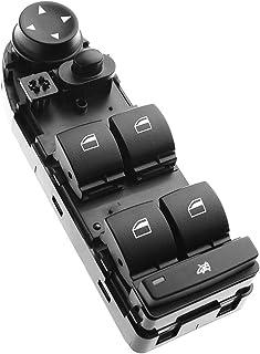A-Premium Master Power Window Switch Compatible with BMW E60 E61 528i 535i 550i M5 2008-2010 528xi 535xi 2008 without Rear Window Sunshade
