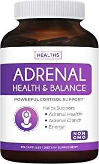Adrenal Support & Cortisol Manager (Non-GMO) Powerful Adrenal Health with L-Tyrosine & Ashwagandha - Maintain Balanced Cor...