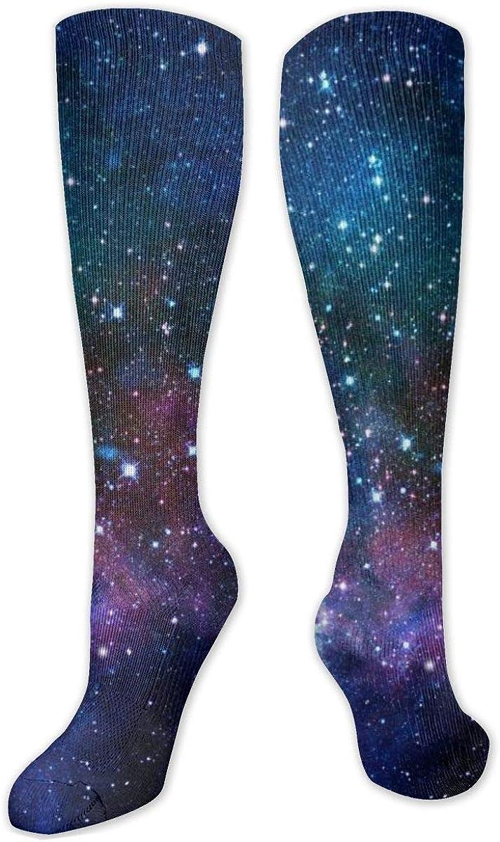 Fantasy Nebula Knee High Socks Leg Warmer Dresses Long Boot Stockings For Womens Cosplay Daily Wear