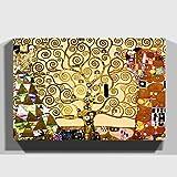 Big Box Art 'El árbol de la Vida de Gustav Klimt Lienzo Decorativo Listo para Colgar, Multicolor,...
