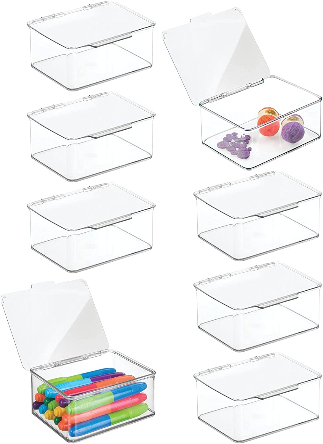 Max 81% OFF mDesign Plastic Stackable Some reservation Craft Storage Sewing Contain Crochet