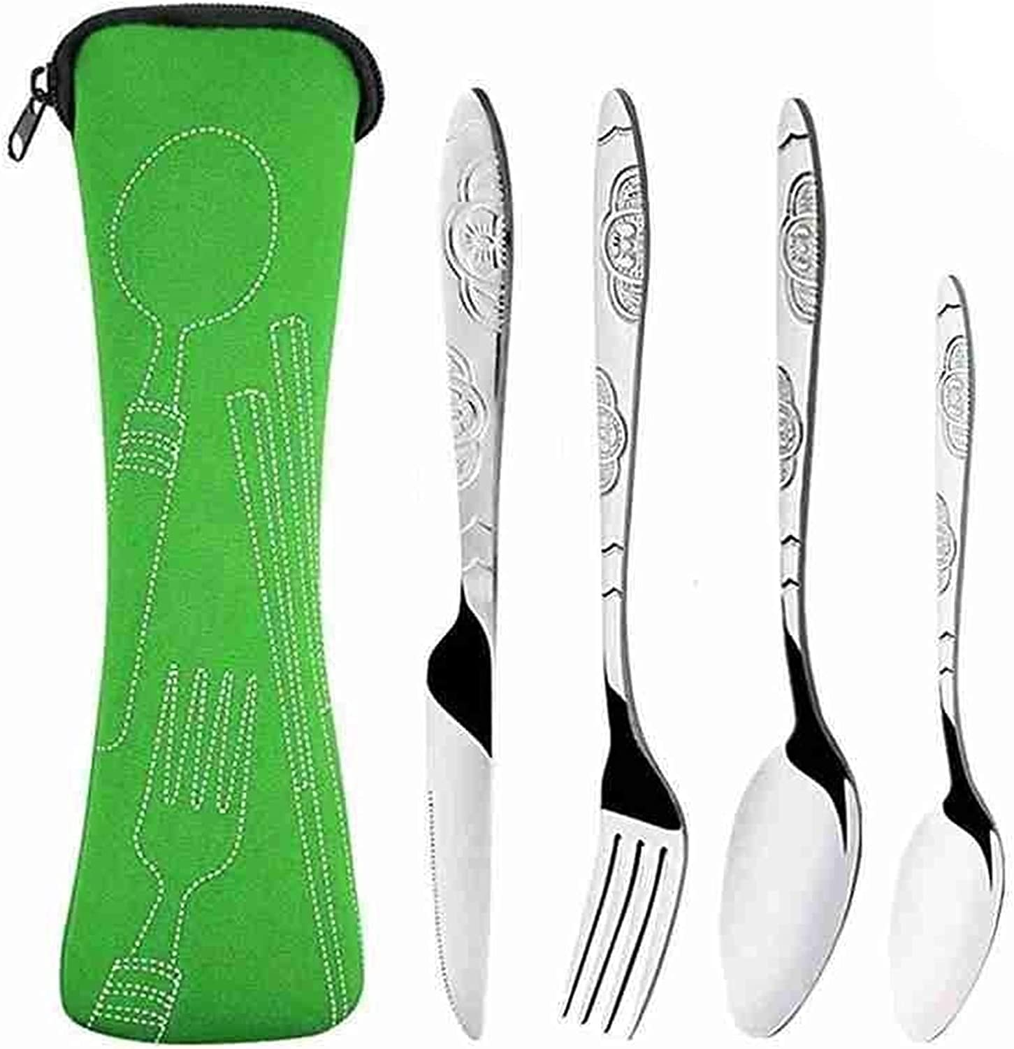Inexpensive Steel Knife Fork Poon Set Family Travel Our shop OFFers the best service Cutlery Four-Pie Camping
