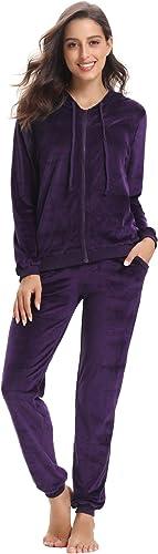 Abollria Survetement Femme Jogging Femme Ensemble Sportswear /à Capuche Pas Cher Pyjama Femme dInt/érieure