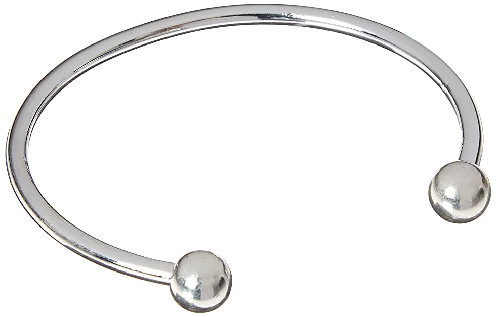 Darice Sterling Silver Plated Twist End Bangle, Set of 3