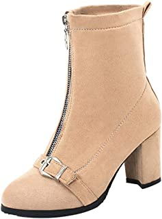 RAZAMAZAWomen Fashion Short Boots Zipper Low Boots