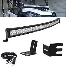 LED Light Bar Kit for Honda Pioneer 700 1000 Models,50'' 288W LED Light Bar w/Wiring kit & Upper Hood Side Pillar Roll Bar Mounting Brackets