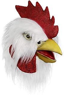 comprar comparacion Máscara de Gallo, Cabeza de máscara Animal, Novedad de Halloween Máscara de Pollo Fiesta Máscara de Gallo de látex (Amaril...