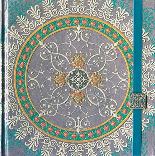 Boncahier 104013 Notizbuch 17.5 x 17.5 cm, 144 Seiten, blanco, Mandalas Motiv, violett/silber