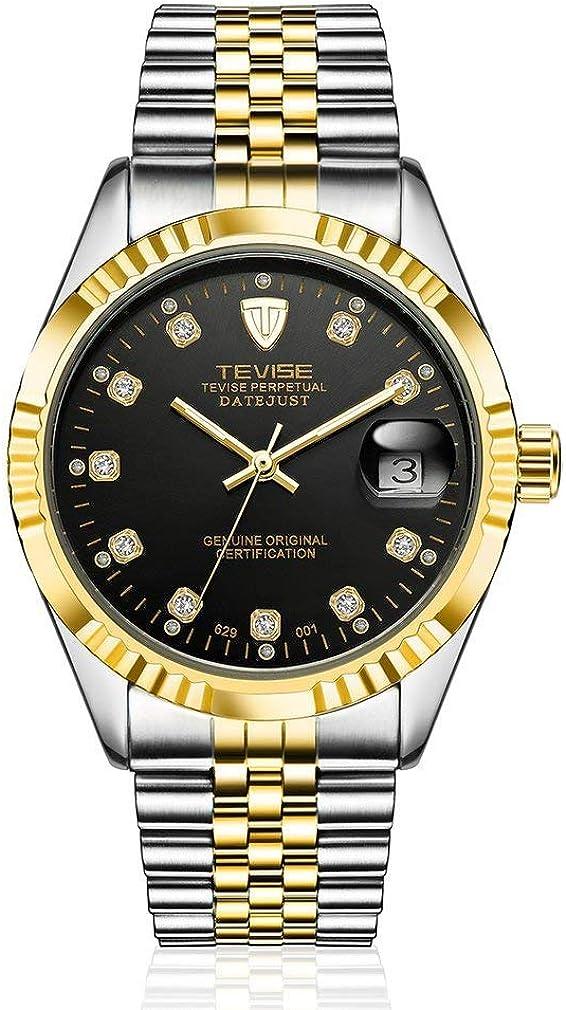 KinshopS TEVISE 629-001 - Reloj de pulsera automático para hombre con calendario mecánico