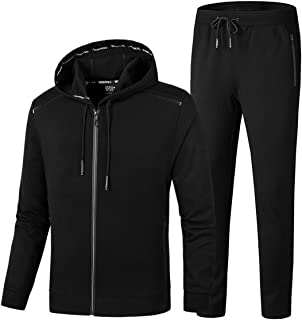 PRIJOUHE Men's Tracksuit Hooded Fitness Sport Suits Gym Hoodie 2 Piece Hoodies Joggers Sweatpants Sets Gym Jogging Tracksuits